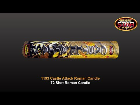 Bright Star Fireworks - 1193 Castle Attack 72 Shot Roman Candle