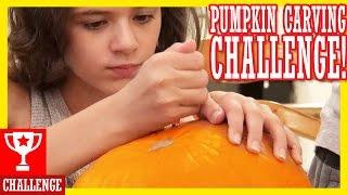 PUMPKIN CARVING CHALLENGE!  HAPPY HALLOWEEN!!     KITTIESMAMA