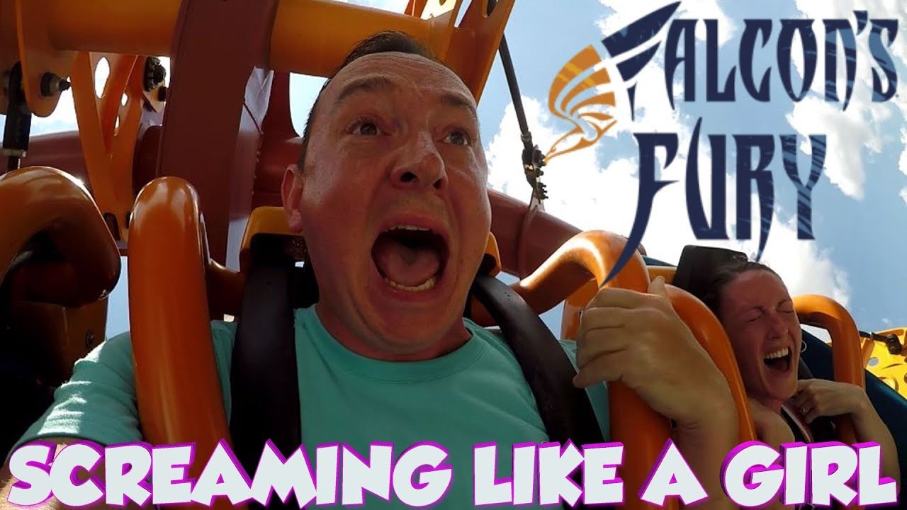 Falcon's Fury At Busch Gardens Made Me SCREAM Like A Girl - SCARIEST DROP RIDE IN FLORIDA