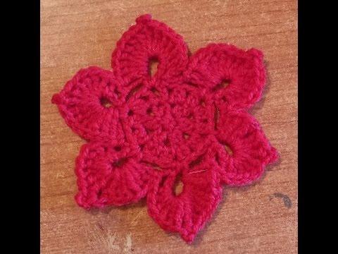 Fiore Di Loto Alluncinetto Tutorial Schema Fiore Flower Crochet