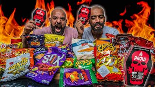 تحدي احررر شيبسات العالم  🌶 Hottest Chips In The World