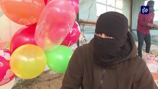 """بعد طرح """"صفقة القرن"""".. عودة البالونات الحارقة على حدود غزة (14/2/2020)"""
