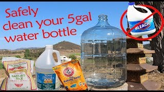 NO CHEMICLES!!!  How to clean a 5 Gal water bottle without chemicals