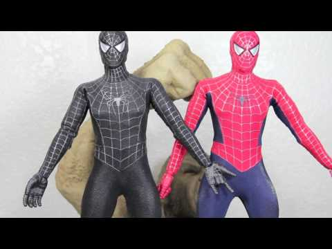 Spider-man 3 Hot Toys Black Suit Spider-man With Sandman Diorama 1/6 Scale Figure Review