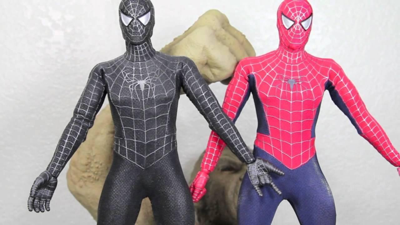Kids Toys Action Figure: Spider-man 3 Hot Toys Black Suit Spider-man With Sandman