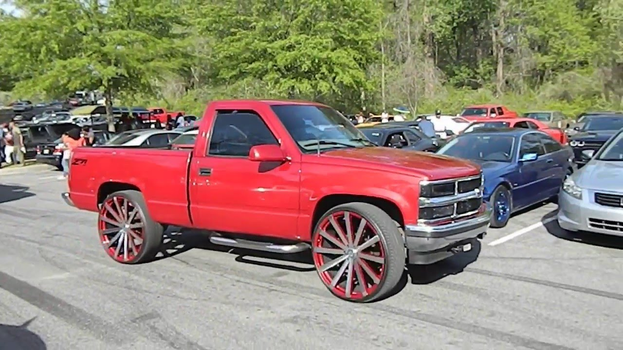 """Chevy Silverado On 28"""" Velocity Wheels And Chevy Tahoe At"""