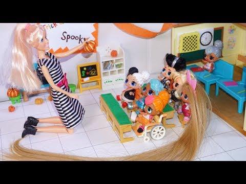 Lol Surprise Dolls Decorate School Classroom For Halloween!