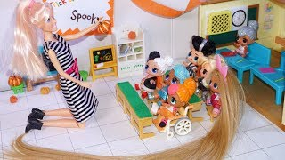 Lol Surprise Dolls Decorate School Classroom For Halloween!