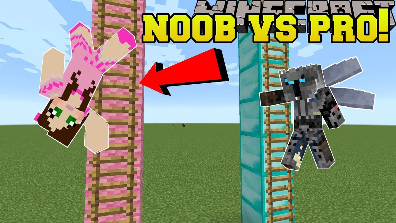 Minecraft Noob Vs Pro King Of The Ladder Mini Game