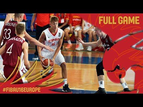 Spain v Latvia - Full Game - FIBA U16 European Championship 2017