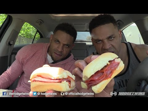 Eating Arby's Pizza Slider @hodgetwins