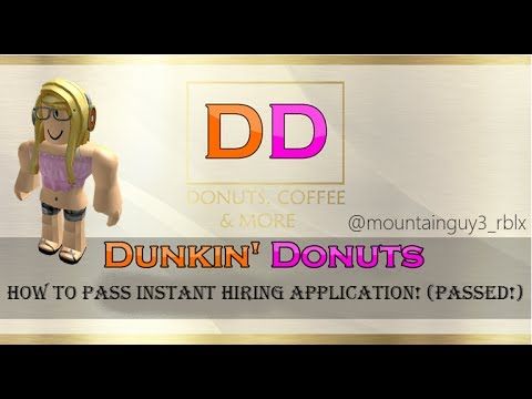 How To Pass Dunkin Donuts Instant Hiring Application - instant barista roblox