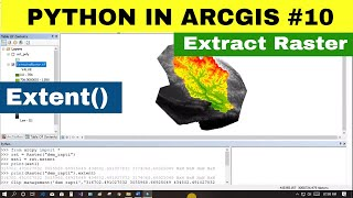 [PYTHON IN ARC GIS #10]Clip management and Extent of Raster and Polygon | Arcpy