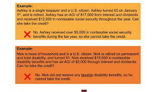 Module 6b: Credit For Elderly And Disabled