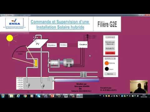 Commande et supervision d'une installation solaire hybride