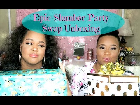 ♡ Epic Slumber Party Swap Unboxing w/ JustTiffanyB
