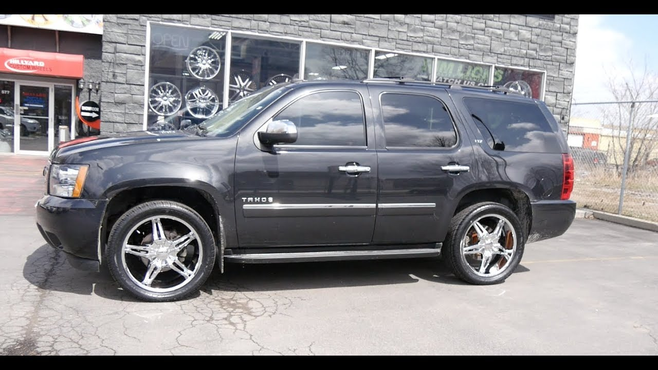 hight resolution of 2011 chevrolet tahoe ltz with 22 inch custom rims tires