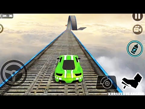 Impossible Stunt Car Tracks 3D: Green Car Driving Stunts Levels 13 & 14 – Android GamePlay