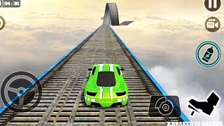 Impossible Stunt Car Tracks 3D: Green Car Driving Stunts Levels 13 & 14 - Android GamePlay