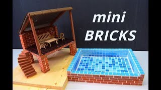 HOW TO BUILD REAL MINI SWIMMING POOL from MINI BRICKS PART 1