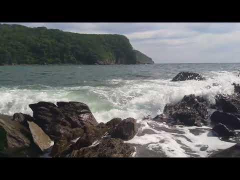 Пляжи Приморья. Бухта Отрадная. Прибой