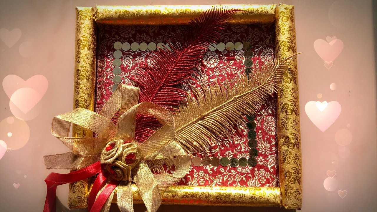 How to make wedding gift tray diy tray decoration idea simple n how to make wedding gift tray diy tray decoration idea simple n easy junglespirit Images