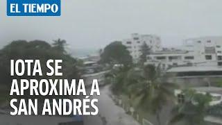 Iota se aproxima a San Andrés