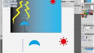 illustrator(イラストレーター)使い方基礎講座・右は快晴、左は嵐1