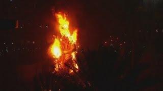 Las Fallas: Hundreds Of Sculptures Burn During Valencia Festival