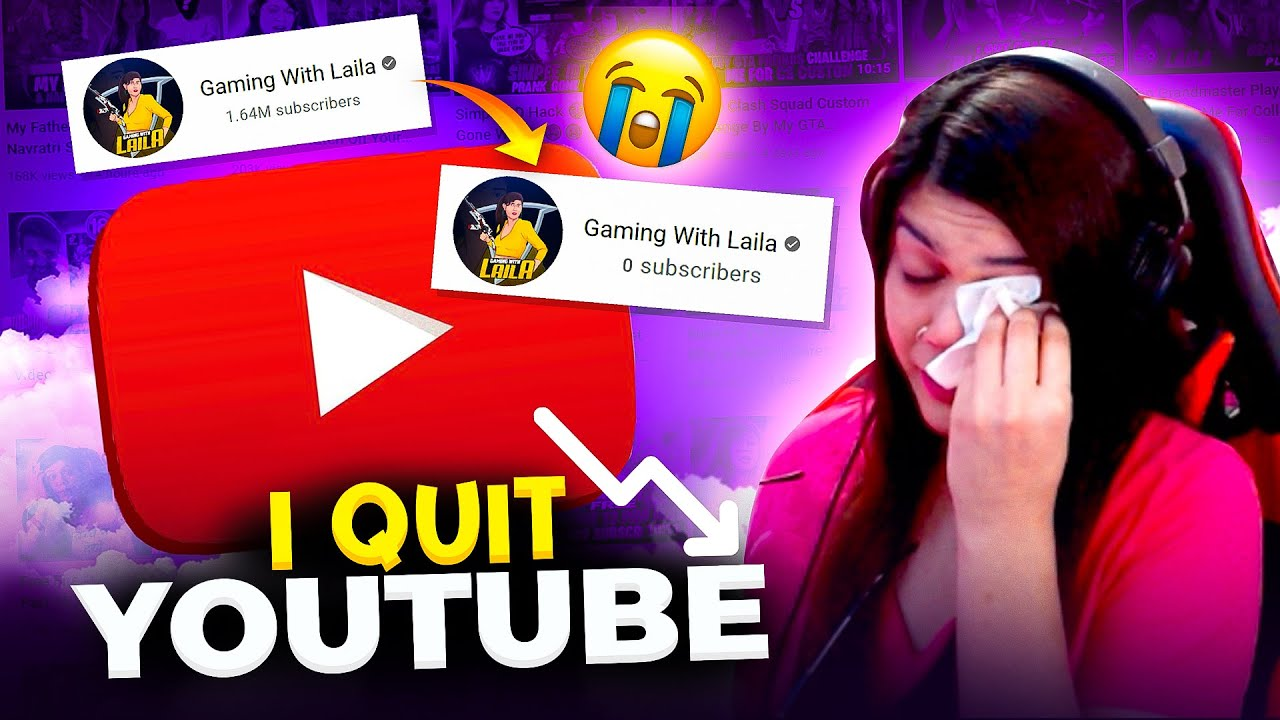 I Quit YouTube After This || Garena Free Fire || Bindass Laila