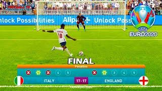 Italy vs England Penalty Shootout Final EURO 2020 eFootball PES 2021
