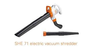 STIHL SHE 71 Electric Vacuum Shredder & Blower Features & Benefits | STIHL GB