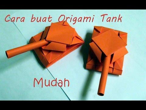 Cara membuat origami tank origami tank instructions