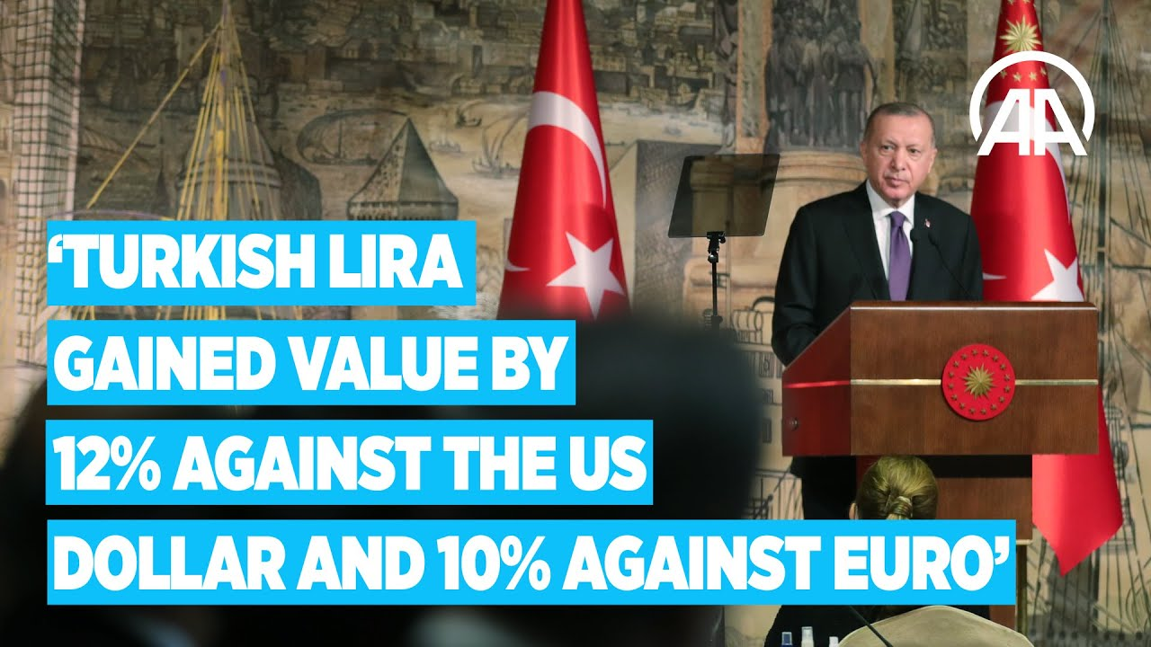 Turkish lira gained value by 12% against the US dollar and 10% against euro