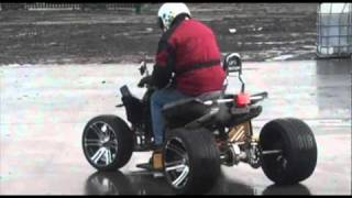 The New SpYdR 250cc Road Legal Quad Bike--Starting and Riding