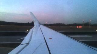 Evening Approach and Landing in Frankfurt onboard Lufthansa Sharklet A320 D-AIZZ from Hamburg