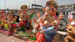 Ganpati idols for sale before Ganesh Chathurti