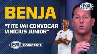 'TITE VAI CONVOCAR VINÍCIUS JÚNIOR NESTA SEXTA': Benja traz a informação no FOX Sports Rádio