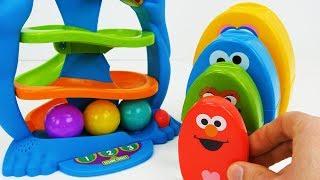 Cookie Monster बच्चों के लिए खिलौना सीखने का वीडियो!