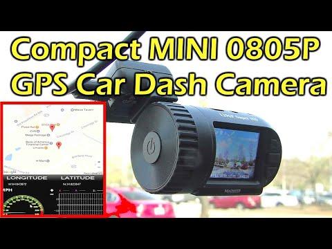 Compact MINI 0805P GPS Car Dash Camera Review