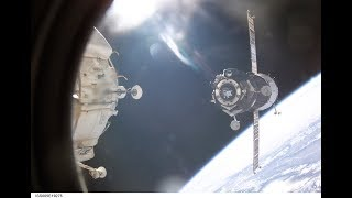 Soyuz launch,docking with ISS and landing