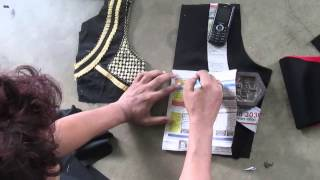 How to make Fashionable designer blouse E part 1 of 4