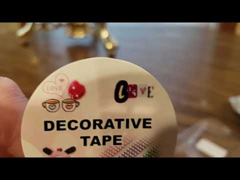 (Episode 2106) Amazon Prime Unboxing: Love My Tapes Decorative Tapes @amazon