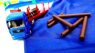 Машины -Помощники - Лесовоз, тягач, катер, трейлер