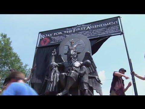 Satanic Temple Rally Targets Arkansas Lawmaker