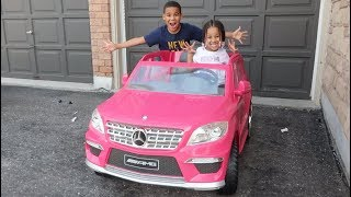 FamousTubeKIDS Get a New Pink Car Surprise!!