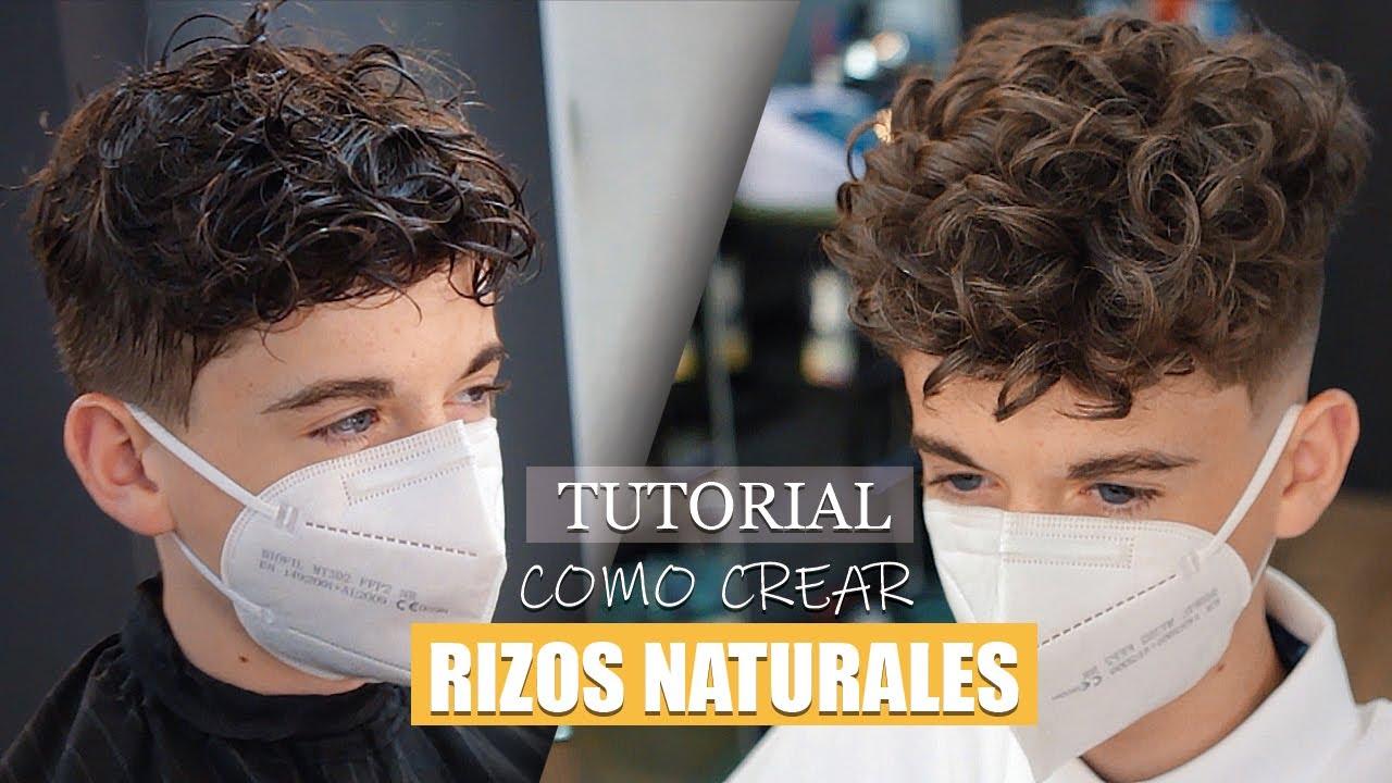Corte De Pelo Rizado Hombre Tutorial Peinado 2020 Nueva Técnica Youtube