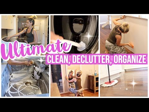 ULTIMATE CLEAN WITH ME 2019 // EXTREME CLEAN, DECLUTTER, ORGANIZE, COMPLETE DISASTER CLEANING