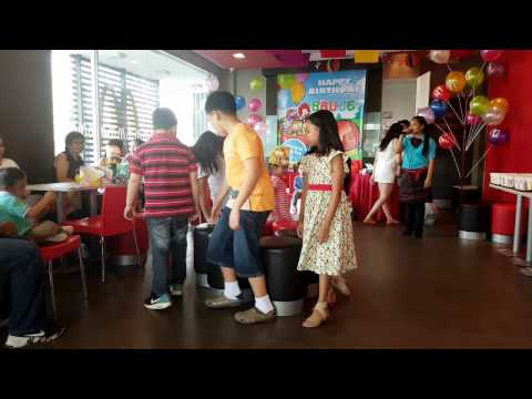 Musical Chairs Trip to Jerusalem   McDonald's Party   Cassidy won!!!
