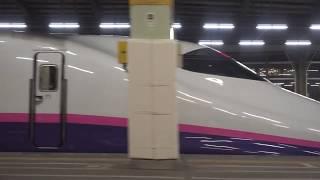 E2系0番台 上越新幹線 とき335号 新潟駅到着 車窓風景
